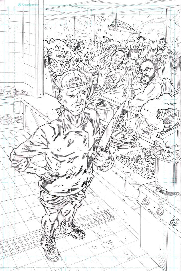 CHEF DAVE STRANGE Cover 1 Pencils by KurtBelcher1