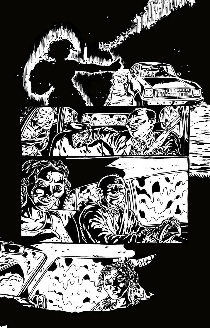 Sweet Hitch-hiker Page 1 Inks by KurtBelcher1
