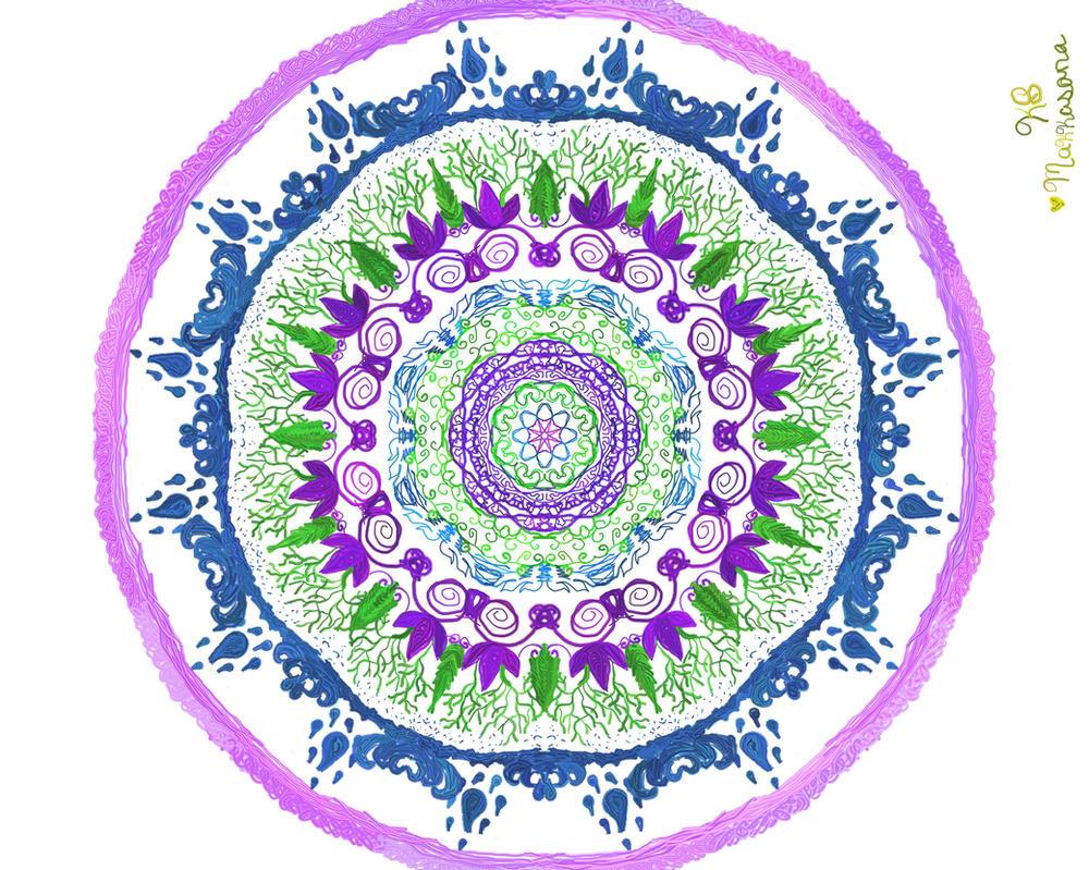 Peacock Mandala by Makkasana