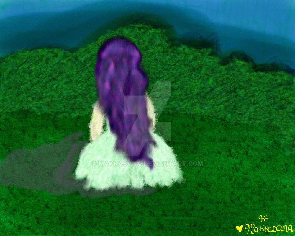 The Girl With The Purple Hair by Makkasana