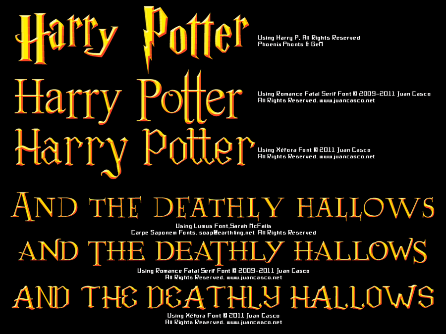 Harry Potter Book Font : Harry potter typography by darkojuan on deviantart