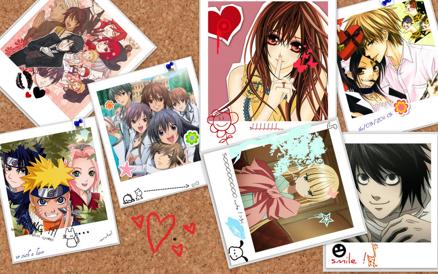 anime collage wallpaper by yahiroxyuki on DeviantArt