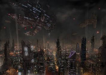 Metropolis 2049 by PeterSiedlArt