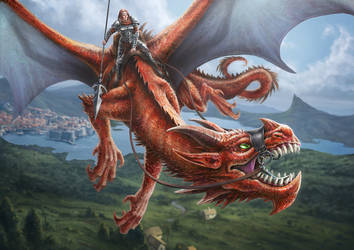 Dragonrider by PeterSiedlArt