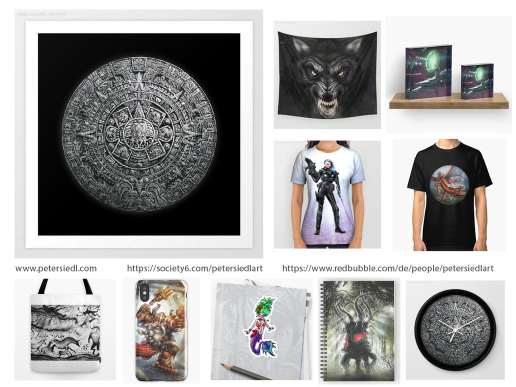 Buy my art as merchandise... by PeterSiedlArt