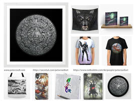 Buy my art as merchandise...