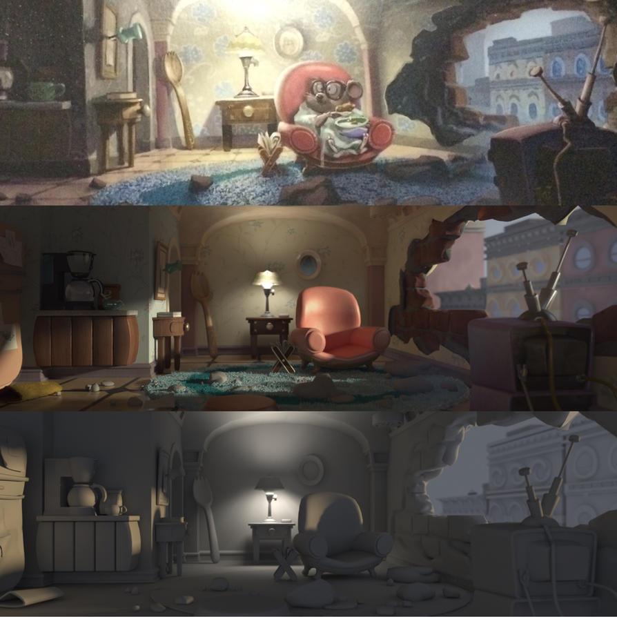 [3d recreation]scene in zootopia by WillowVO