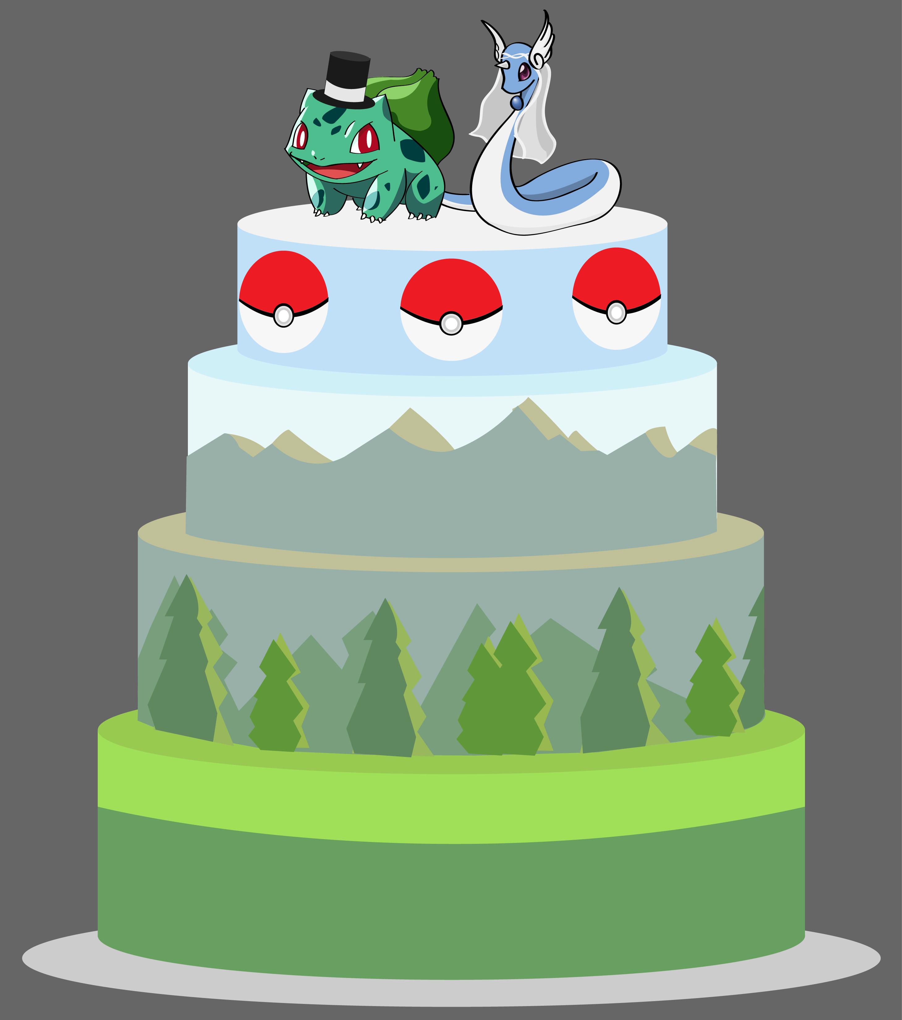 Pokemon Gamer Wedding Cake