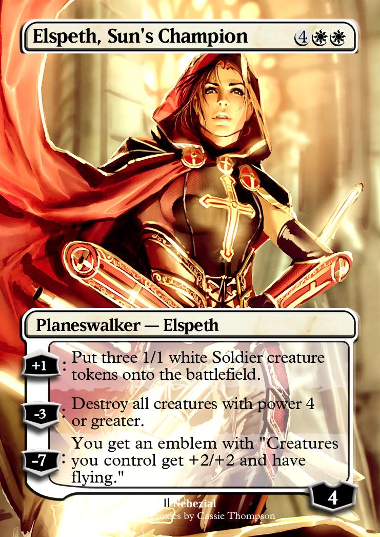 Elspeth suns champion card