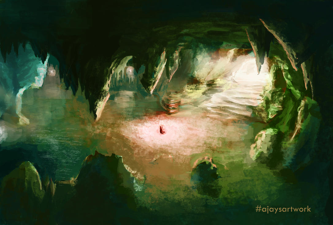 Shallows in the Cave by ajaysartwork