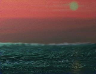 The sunset 'neath the waves by raegar