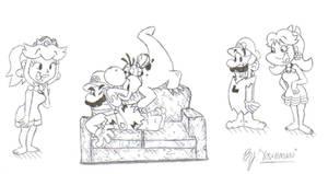 Mario Flintstones