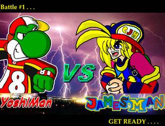 YoshiMan VS JamesMan by YoshiMan1118
