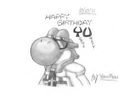 Happy Birthday YU by YoshiMan1118