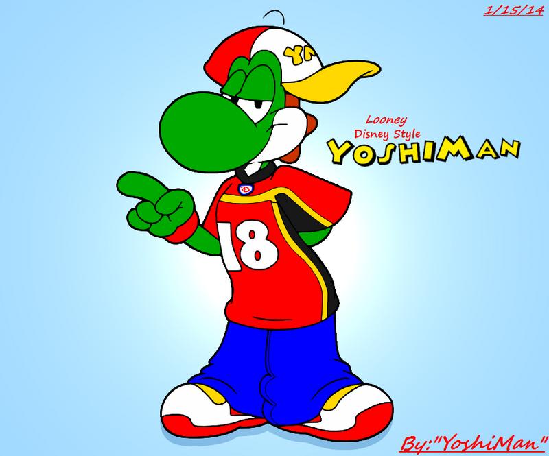 Some kinda Looney Disney Style YoshiMan by YoshiMan1118