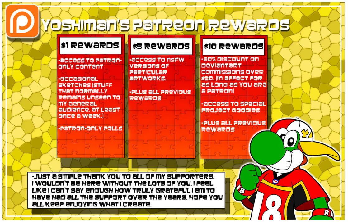 Patreon Rewards Page by YoshiMan1118 on DeviantArt