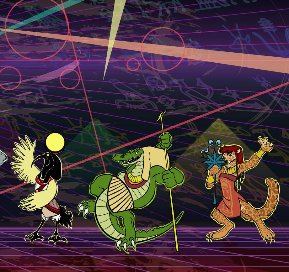 FC05 Dancing Gods 3 of 3 by JonasDrawsStuff