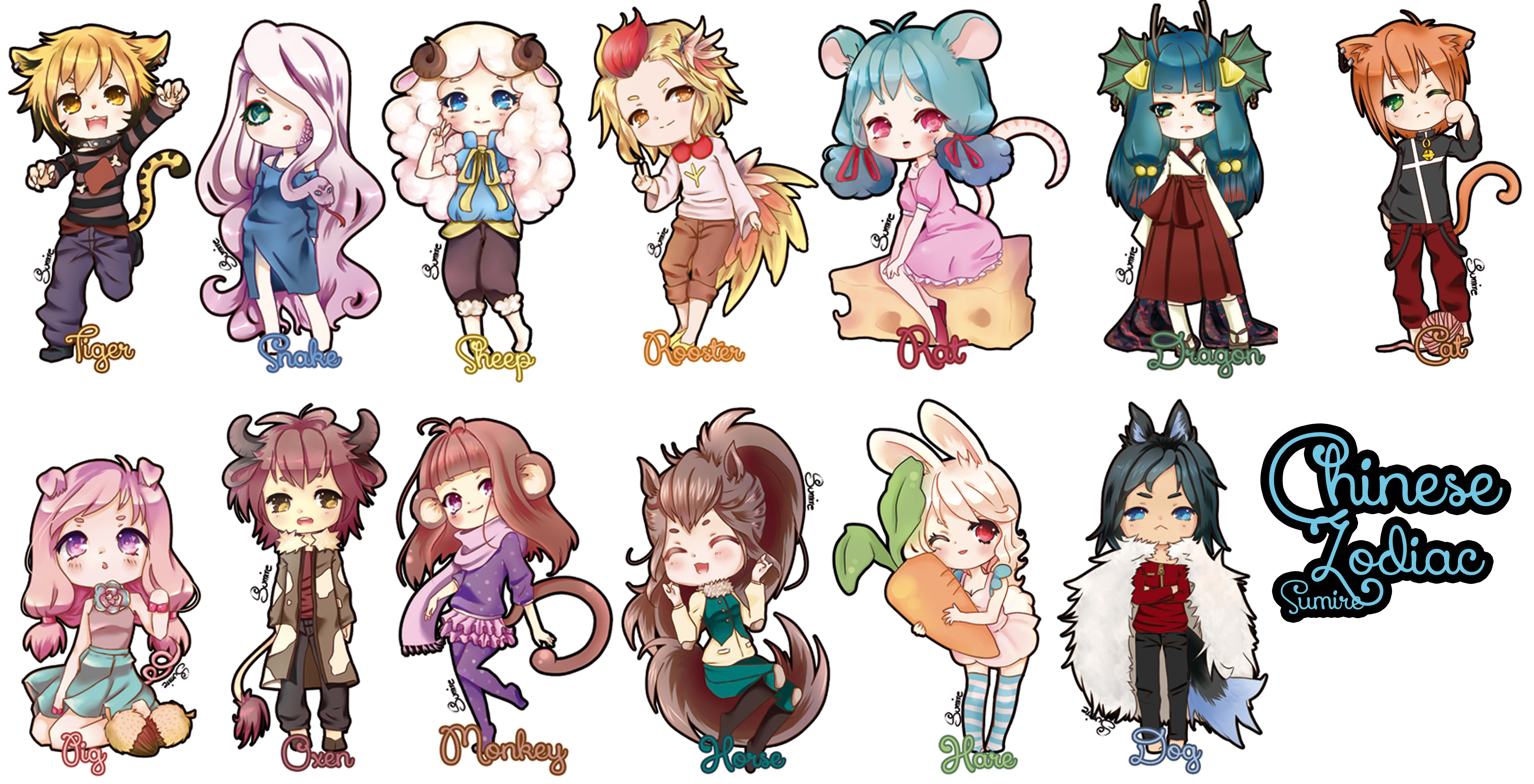 Chinese Zodiac Completo By