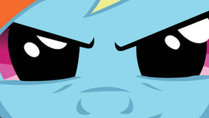 Rainbow Dash Glaring Wallpaper