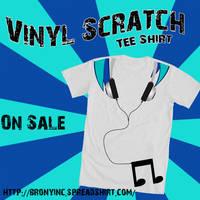 Vinyl Scratch Tee Shirt by EvilDocterMcBob