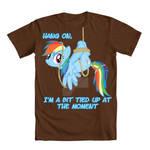 Hang On:Rainbow Dash Tee shirt