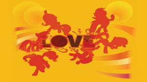 Beatles 'Love' Ponies Wallpaper