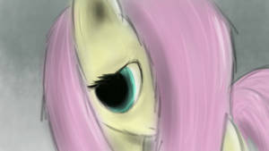 Fluttershy Painting 2 by EvilDocterMcBob