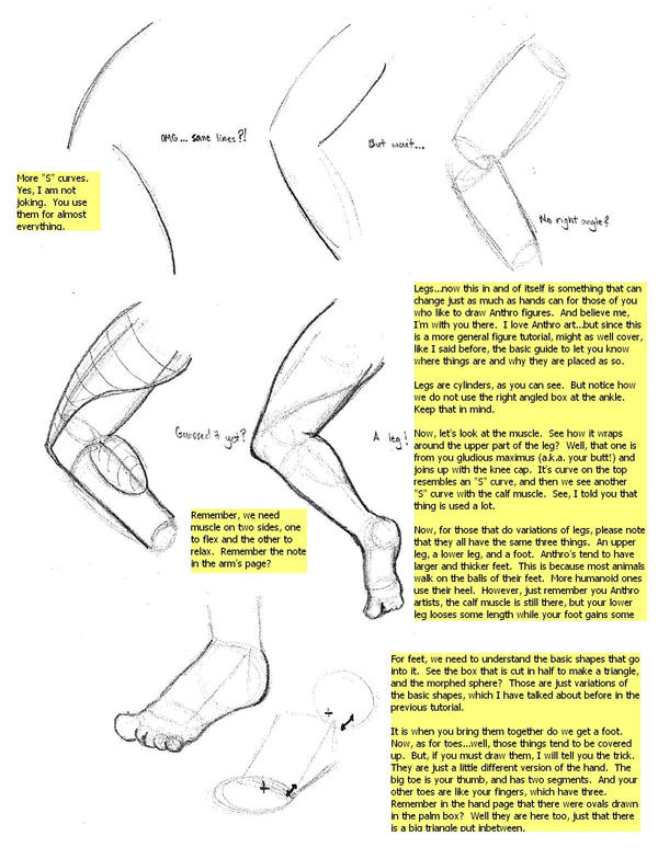 Figure Tutorial: Legs-Feet by Fenris2Lupin