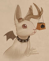Spoopy Wolpertinger by Pipann