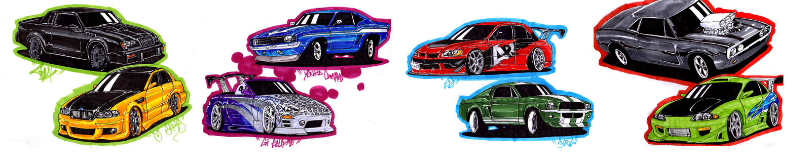 Czeshop Images How To Draw Fast And Furious 6 Cars