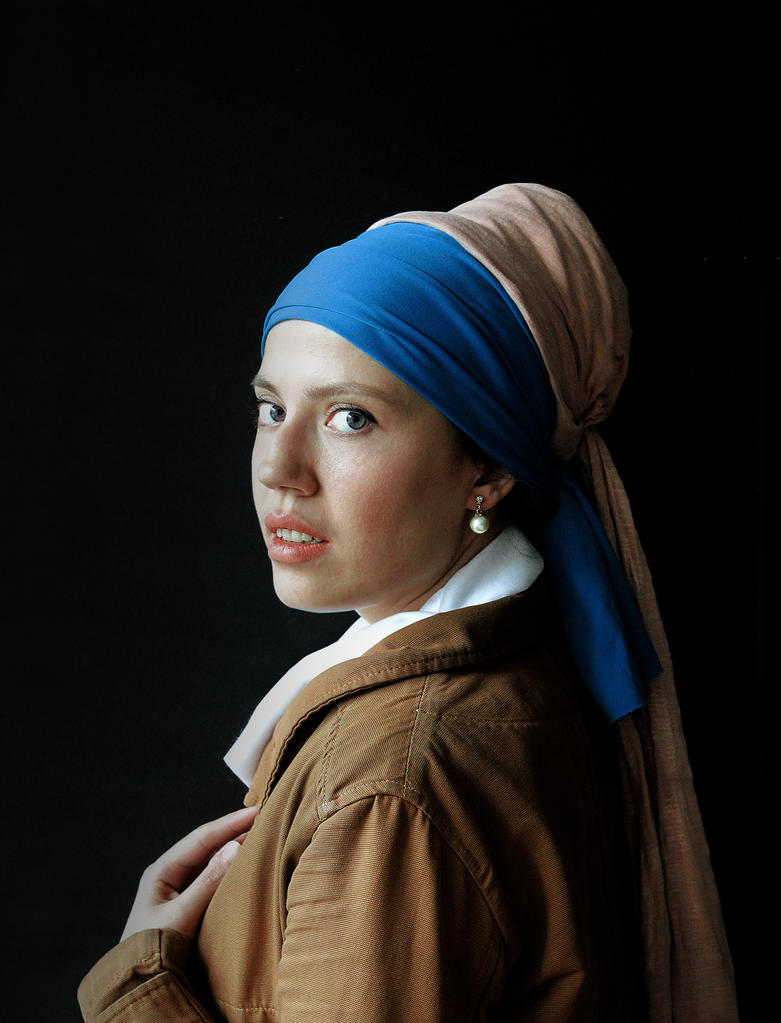 Girl With A Pearl Earring  Reproduction By Altindagunal