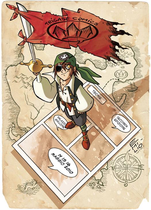 Locandina Tricase comics 2010 by Emilio Urbano