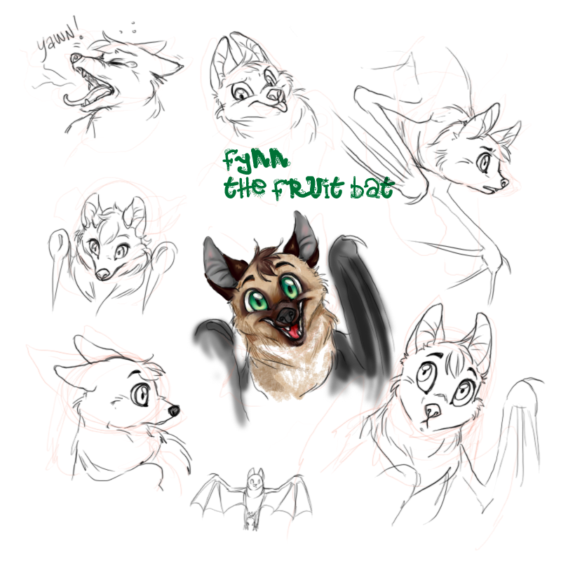 Fynn the Fruit bat by yourTOESareMISSING
