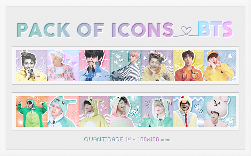 BTS ICONS - PACK by RohARamos