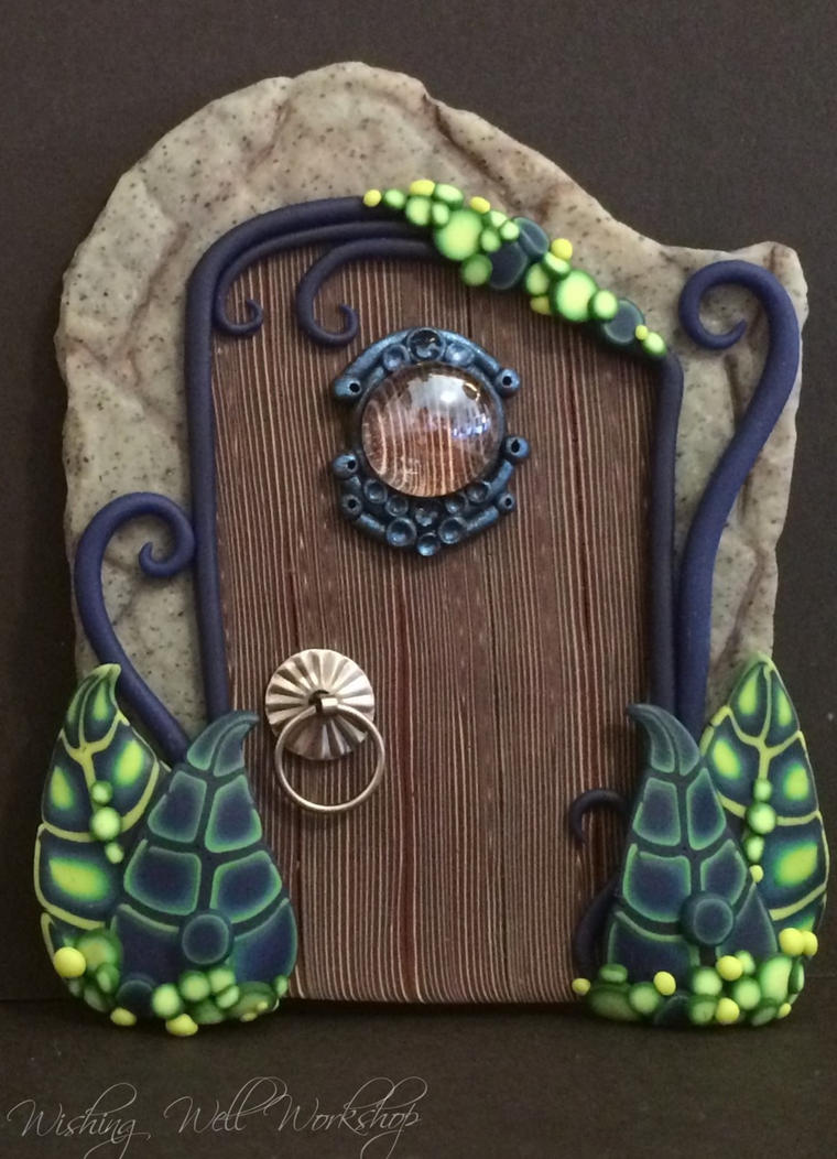 Polymer Clay Fairy Door by missfinearts ... : clay door - pezcame.com