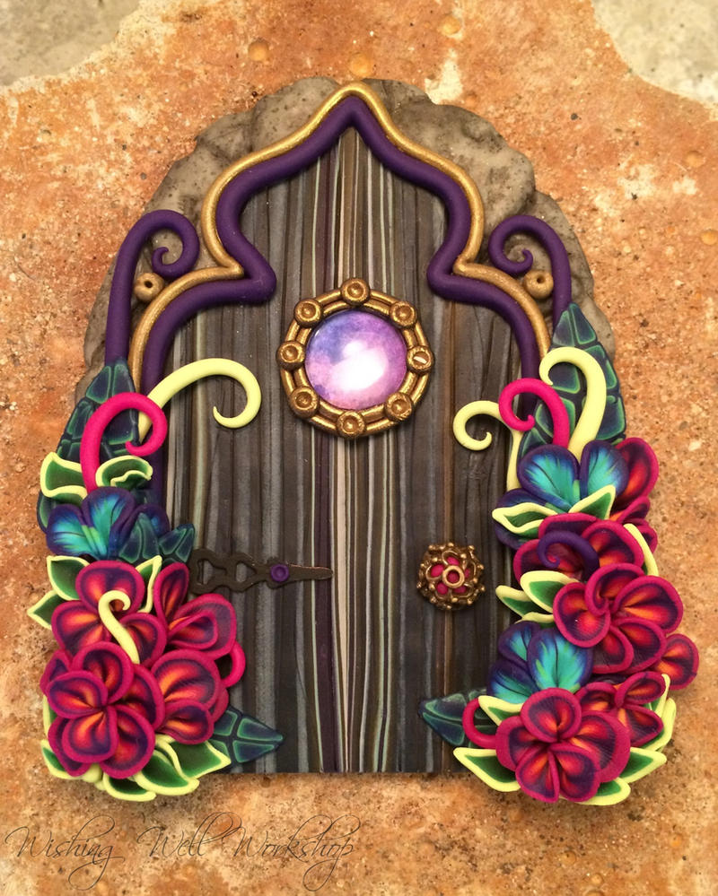 Polymer Clay Fairy Door Jewel Tone by missfinearts