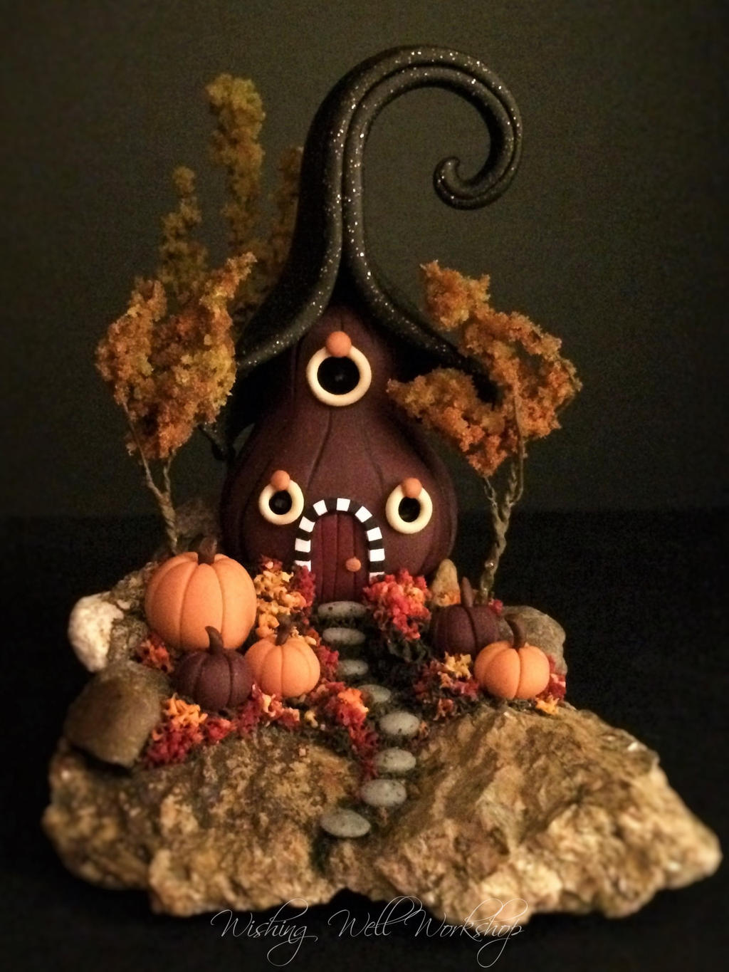Polymer Clay Halloween House 2 by missfinearts