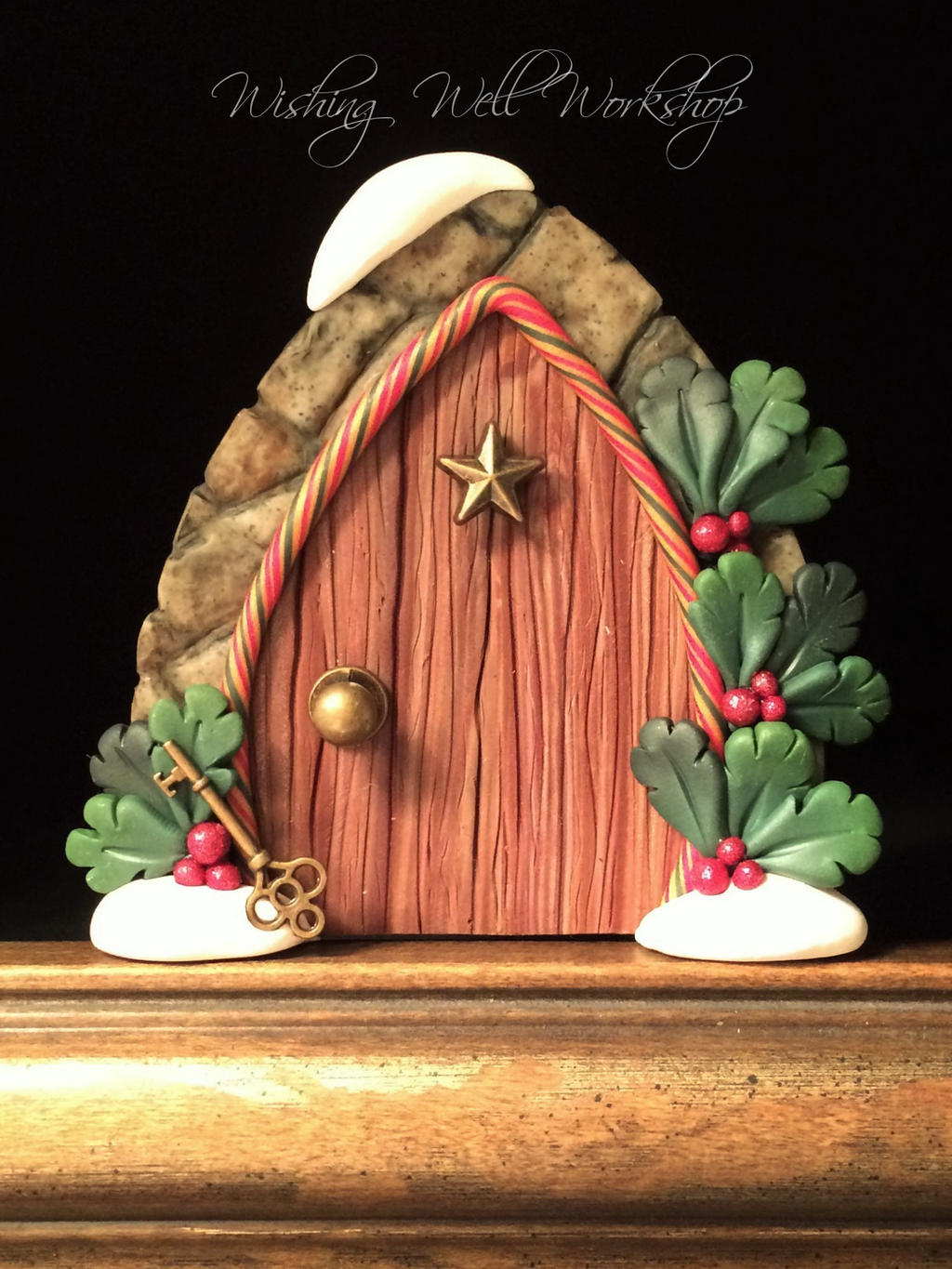 Polymer Clay Holly Door by missfinearts