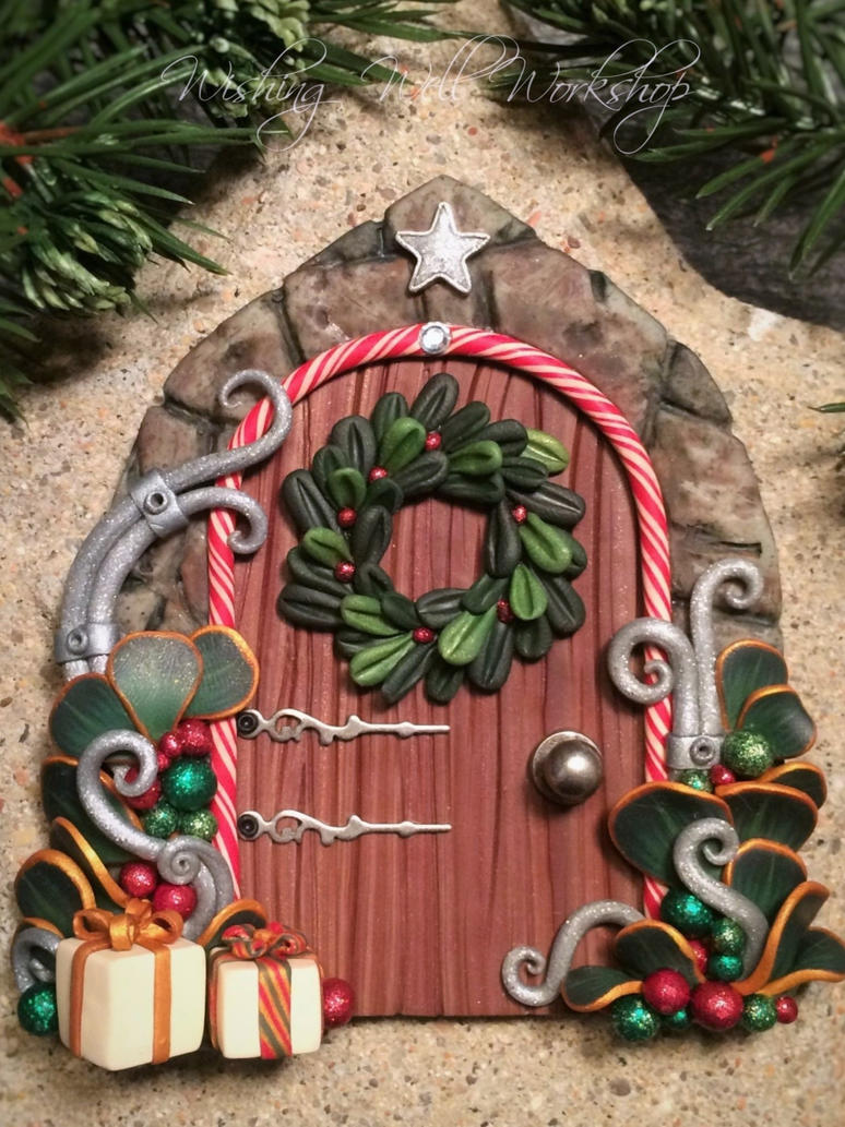 Polymer Clay Christmas Fairy Door by missfinearts ... & Polymer Clay Christmas Fairy Door by missfinearts on DeviantArt