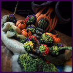 Polymer Clay Pumpkin Cottage by missfinearts