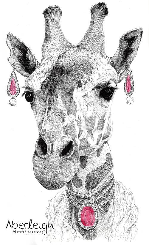 High Class Giraffe by Aberleigh