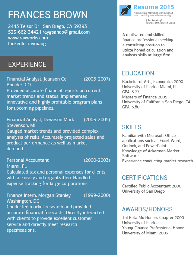 accountant resume examples 2015 by resume2015 on deviantart - Best Professional Resume