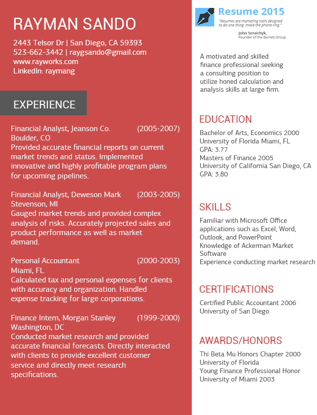 resume templates to use in 2015 by resume2015 on
