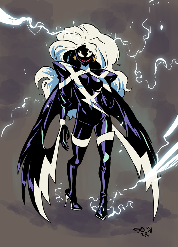 What If Storm Got The Symbiote by weremoleSymbiote Thing