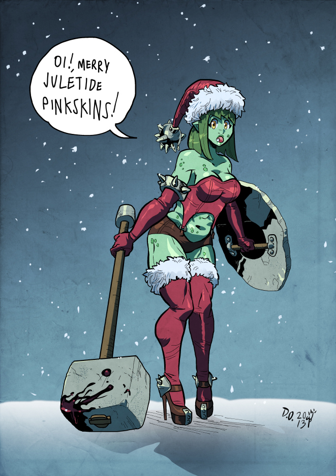 Xmas Orc by weremole