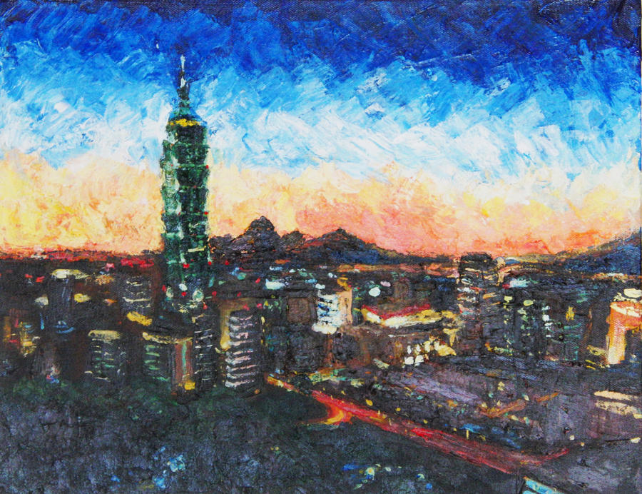 D Art Exhibition Taipei : Taipei s sunset by shadowdragonk on deviantart