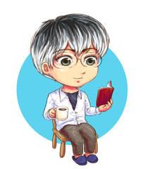 Sasaki Haise: Reading by ShadowDragonK