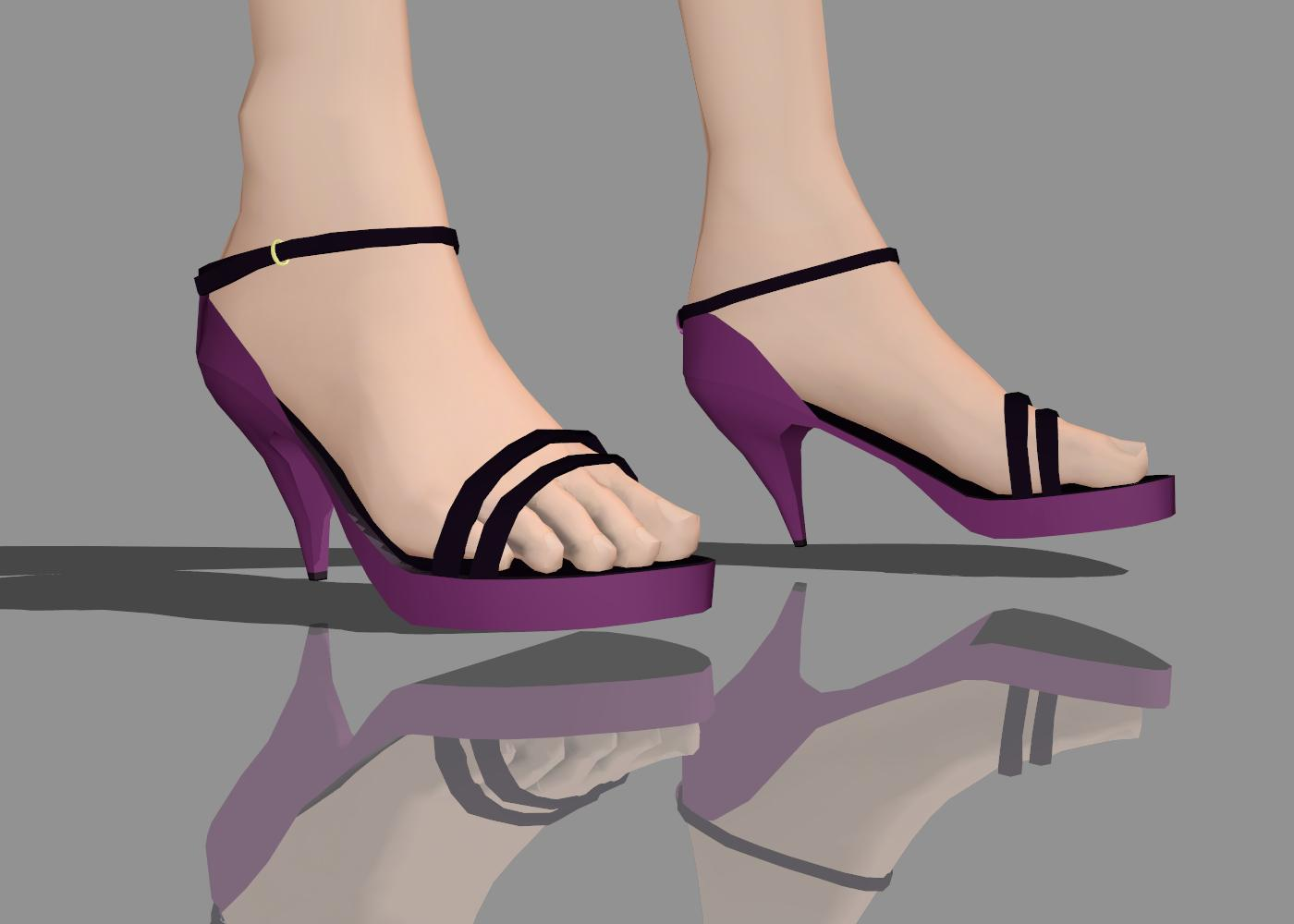 MMD highheels for purple ageha by Ina-C