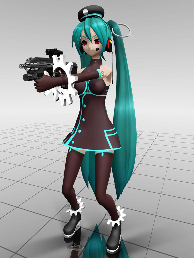 MMD - anyone want to mess with me? XD by Ina-C