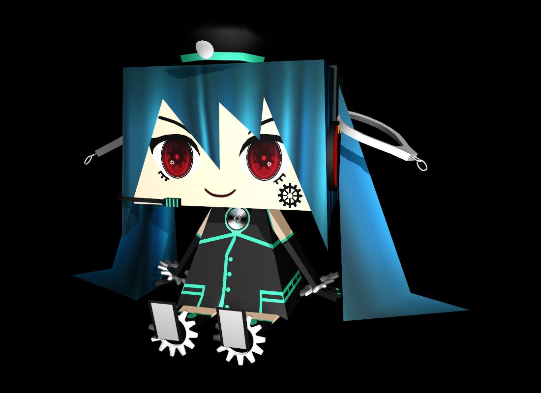 MMD - smf / spm miku (papercraft like) by Ina-C